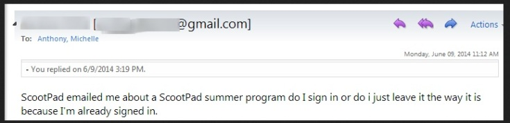 School finished on Friday...imagine my surprise to see this email the Monday after!