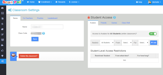 The new settings offer lots of options to control when kids can access various parts of the site!