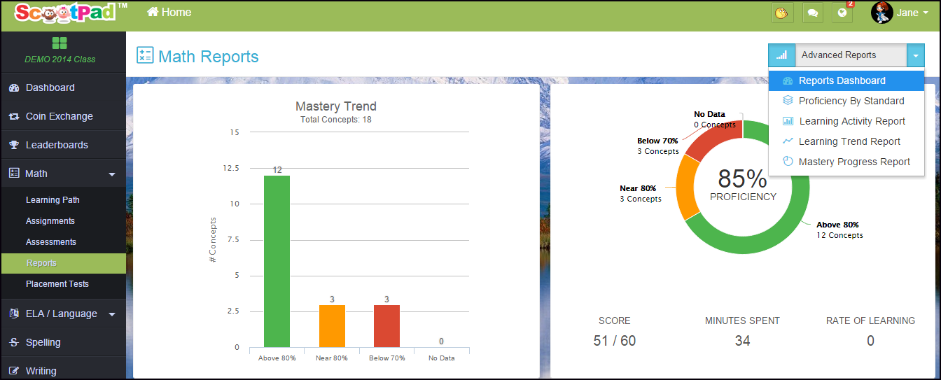 Teachers, Parents, & Students can Access Reports! –