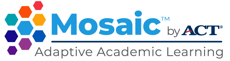 Mosaic by ACT Adaptive Academic Learning